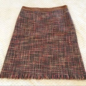 Kenneth Cole Tweed Multicolor Knit A-Line Skirt 2